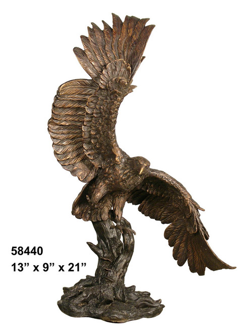 Eagle Landing on a Branch - with Marble Base (not shown)