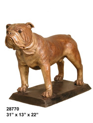 Bulldog on all Fours - with Bronze Base - Design B