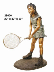 Junior Tennis Player, Waiting to Volley - SALE! - Take an Extra 25% Off - Discount Applied at Checkout