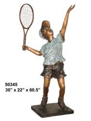 Junior Tennis Player, Serving