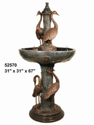 "Five Birds Recirculating Fountain - 67"" Design"