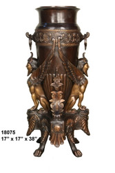 "38"" Bronze Urn, Antiquity Design"