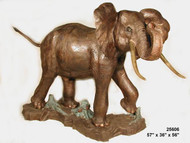 Playful Elephant Fountain - Raised Trunk
