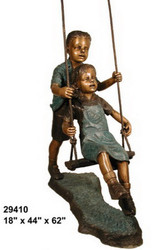 "Boy Pushing a Girl on a Swing - 62"" Design"