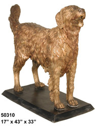 Golden Retriever - with Bronze Base