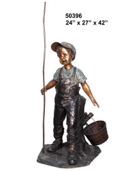 Young Boy Goin' Fishin' - SALE! - Take an Extra 25% Off - Discount Applied at Checkout