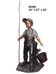 Young Boy Goin' Fishin'