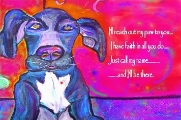 Great Dane-i'll reach out my paw to you...