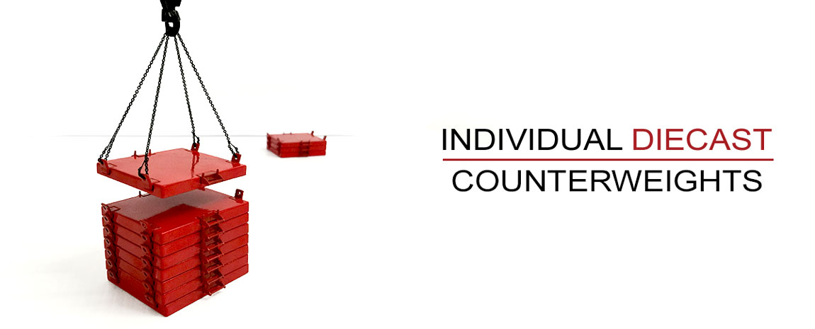 Manitowoc 16000 features individual diecast counterweights