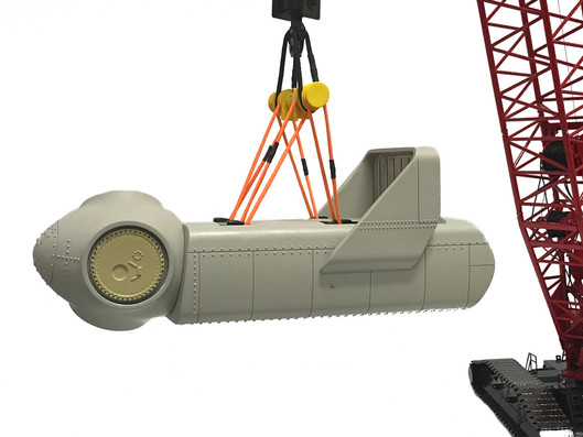 1:50 Scale Wind Turbine Nacelle Load Set pre-production prototype.