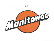 """Vintage Manitowoc Logo - 24"""""""