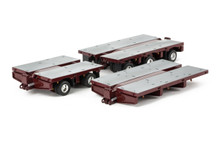 1:50 diecast scale model of Drake Steerable Low Loader Trailer Accessory Kit - Vintage Burgundy