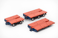 1:50 diecast scale model of Drake Steerable Low Loader Trailer Accessory Kit in Drake Livery