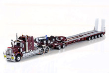 KENWORTH C509, 2X8 DOLLY AND 5X8 SWINGWING Vintage Burgundy