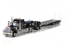 KENWORTH C509, 2X8 DOLLY AND 5X8 SWINGWING GUNMETAL GREY