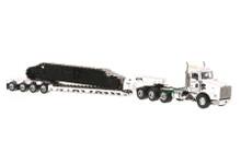 Kenworth T800W w/4-Axle Rogers Lowboy - White