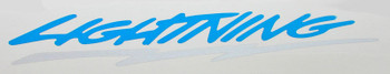 Replace your faded, worn, or missing 1993-1995 SVT Lightning tailgate decal with this Ford licensed reproduction today! Interchange part number   LTP-42528AR
