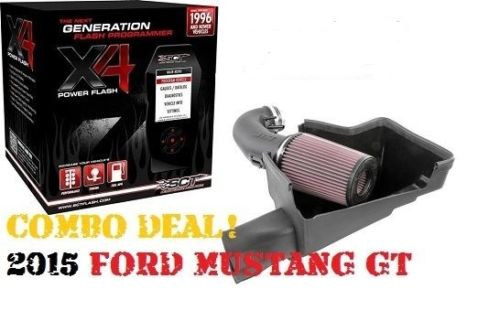 JLT & SCT 2015 2016 FORD MUSTANG GT JLT COLD AIR INTAKE AND SCT TUNER FREE  SHIP SCT X4 7015