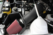 JLT-CAIP-GT500-07  FORD SVT SHELBY 07-09 MUSTANG  GT500 BLACK TEXTURED BIG AIR INTAKE KIT RED FILTER TUNE REQUIRED