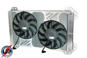 AFCO 80284PRO 2010-14 FORD SVT RAPTOR F150 SUPERCHARGED DUAL PASS HEAT EXCHANGER W/ FANS