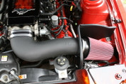 jltCAI3-FMG05 FORD 05-09 FORD MUSTANG GT SERIES 3  COLD AIR INTAKE KIT W/RED FILTER