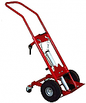 1 Cyl Lifting Hand Truck 4 Wheel, Pneumatic Tires Custom