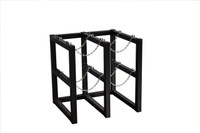 4 Cylinder Storage Rack 2 Cyl Wide x 2 Cyl Deep Steel Chains Custom