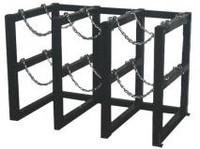 6 Cylinder Storage Rack 3 Cyl Wide x 2 Cyl Deep Steel Chains Custom