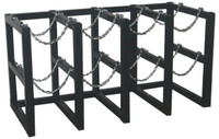 8 Cylinder Storage Rack 4 Cyl Wide x 2 Cyl Deep Steel Chains Custom