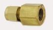 """Brass Female Connector Model 8FSC4N-B 1/2"""" Compression x 1/4"""" NPT Female"""