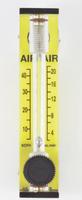 "Economic Acrylic Machined B6 Flowmeters Series 7923 Model 7923-1V22HB Carboloy Float Flow Rate 0-22.0 SLPM & 0-45.0 SCFH 1/4"" Brass Hose Barbs"