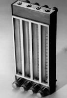 "Aluminum Four Tube A1 Flowmeters Standard Valve Four 150mm Tubes, 1/8"" NPT Female Model A7940"