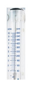 "Large Flow Acrylic Flowmeters No Inlet Valve Series 7974 Model B7974-2NV SCFM Flow Rate 1-10 1/4"" NPTF X 1/4"" NPTF"