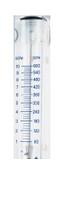 "Large Flow Acrylic Flowmeters No Inlet Valve Series 7974 Model B7974-3NV SCFM Flow Rate 2-20 1/4"" NPTF X 1/4"" NPTF"