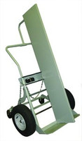 "2 Cyl Firewall 4 Wheel Hand Truck Heavy Duty 16"" Pneumatic Tires Custom"