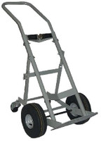 "1 Cylinder Four Wheel Hand Truck 10.5"" Pneumatic Tires Custom"