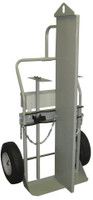"2 Cyl Firewall 2 Wheel Hook Hoist Hand Truck 16"" Pneumatic Tires Custom"
