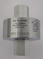 "Depth Gas Filters Stainless Steel 0.01 Microns 1/4"" NPTF X 1/4"" NPTF Model 7010-P4FF"