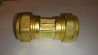 "Brass In-Line 1/4"" CXC Filter With #10 micron filter element Model 7510-10-T4FF"