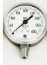 "Monel® Gauge With Stainless Steel Case 2.5"" Dia. 3A 1/4"" NPT Male Lower Mount 0-1000 psig Model 9133-4PM-1000"