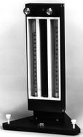 "Aluminum Gas Proportion A3 Flowmeter Standard Valve Two 150mm Tubes, 1/4"" Hose Barb Model 7951H"