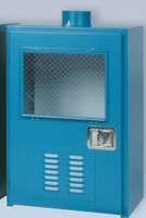 "Gas Safety Storage Cabinet for 2 Lecture Bottles Cylinders 24""W X 18""D X 39""H Model 3200 Custom"