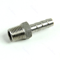 "Stainless Steel Hose barb 1/4"" Hose barb x 1/4"" NPT Male"