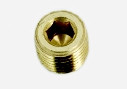 "Brass Hollow Hex Pipe Plug Model 2PHH-B 1/8"" NPT Male"