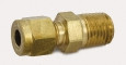 "Brass Male Connector Model 2MSC4N-B 1/8"" Compression x 1/4"" NPT Male"