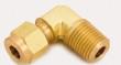 "Brass Male Elbow Model 2MSEL4N-B 1/8"" Compression x 1/4"" NPT Male"