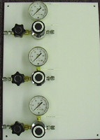Three Regulators Vertical Brass Point Of Use Panel Model 2231-V-???-???-???