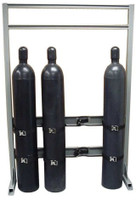 4 Cylinder Single Sided In Line Process Gas Station Rack Custom