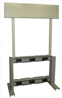 6 Cylinder Double Sided Process Gas Station Rack With Panel Custom