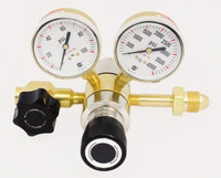 Brass High Purity B9 Two Stage Pressure Regulator Model 3201PM 100-500 PSIG PANEL MOUNT
